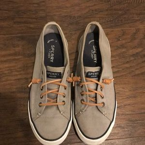 Gray Sperry slip on sneakers Women's 8.5